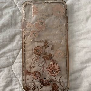 Kate Spade Pink Floral iPhone XS Max Case